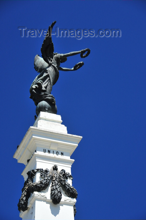 el-salvador54: San Salvador, El Salvador, Central America: Parque Libertad - Liberty monument - statue and obelisk - photo by M.Torres - (c) Travel-Images.com - Stock Photography agency - Image Bank