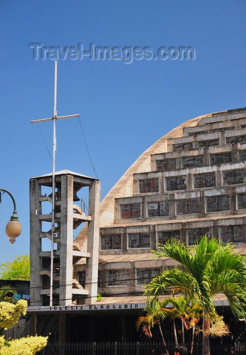 el-salvador58: San Salvador, El Salvador, Central America: church of the Rosary - Iglesia El Rosario - modern architecture - Parque Libertad - photo by M.Torres - (c) Travel-Images.com - Stock Photography agency - Image Bank