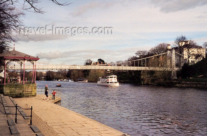 england10: Chester, Cheshire, North West England, UK: By the river Dee - Queen's Park bridge - photo by M.Torres - (c) Travel-Images.com - Stock Photography agency - Image Bank