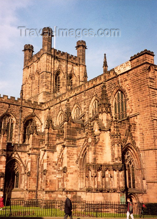 england113: Chester, Cheshire, North West England, UK: by the Cathedral - photo by M.Torres - (c) Travel-Images.com - Stock Photography agency - Image Bank