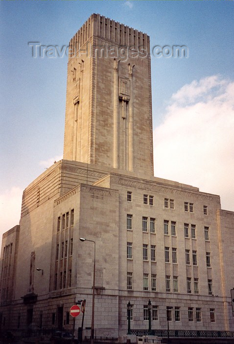 england119: Liverpool, Merseyside, North West England, UK: architecture - Georges Dock Ventilation tower - Mann Island - Designer: Herbert J Rowse - photo by M.Torres - (c) Travel-Images.com - Stock Photography agency - Image Bank