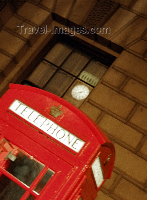 england133: UK - London: BT - British telephone kiosk with reflection of Big Ben in window - photo by K.White - (c) Travel-Images.com - Stock Photography agency - Image Bank