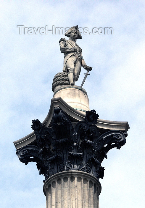 england145: London, England: Trafalgar square - Nelson's column - photo by K.White - (c) Travel-Images.com - Stock Photography agency - Image Bank