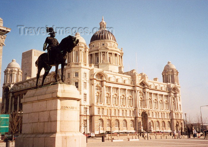 england16: Liverpool, Merseyside, North West England, UK: Edward VII - Port of Liverpool Building - Arnold Thornley with Briggs and Wolstenholme - photo by M.Torres - (c) Travel-Images.com - Stock Photography agency - Image Bank