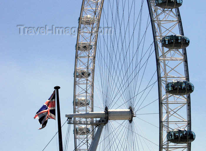 england168: London: British Airways London Eye - Union Jack - photo by K.White - (c) Travel-Images.com - Stock Photography agency - Image Bank