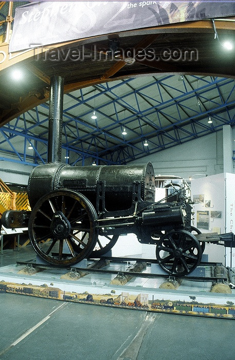 england177: York, North Yorkshire, England: Stephenson's Rocket, mother of all locos - York Railway Museum - photo by A.Sen - (c) Travel-Images.com - Stock Photography agency - Image Bank