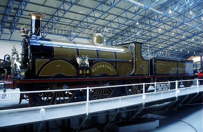 england178: York, North Yorkshire, England: Gladstone locomotive - York Railway Museum - photo by A.Sen - (c) Travel-Images.com - Stock Photography agency - Image Bank