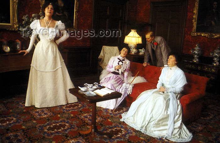 england180: Warwick, Warwickshire, West Midlands, England: Victorian life - waxworks by Madame Tussaud's at the castle - photo by A.Sen - (c) Travel-Images.com - Stock Photography agency - Image Bank
