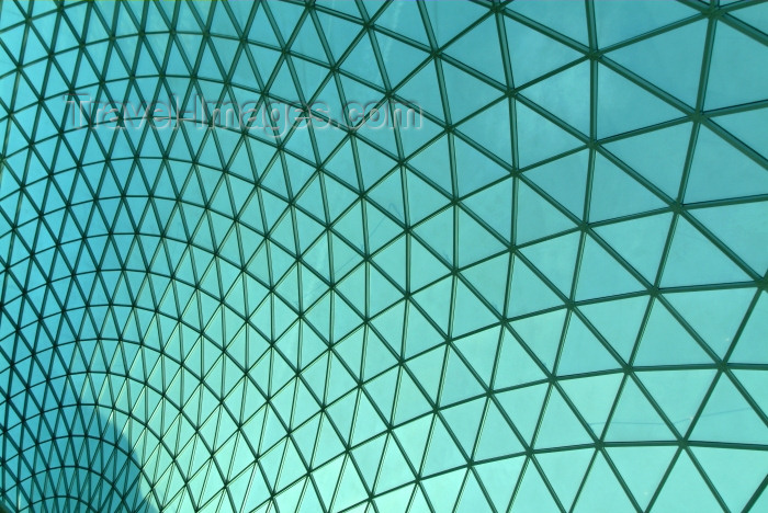 england196: London: British museum - roof of the Great Court - tessellated glass roof by Foster and Partners (Architects) and Buro Happold (Engineers) - photo by K.White - (c) Travel-Images.com - Stock Photography agency - Image Bank