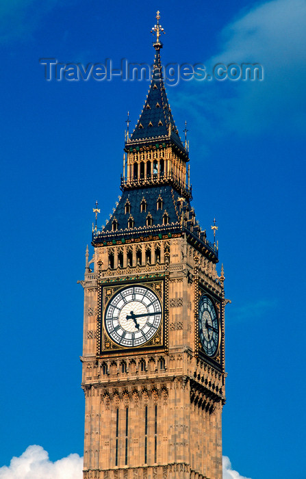 england198: London, UK: Big Ben - classical image - Clock Tower, Palace of Westminster - photo by B.Henry - (c) Travel-Images.com - Stock Photography agency - Image Bank