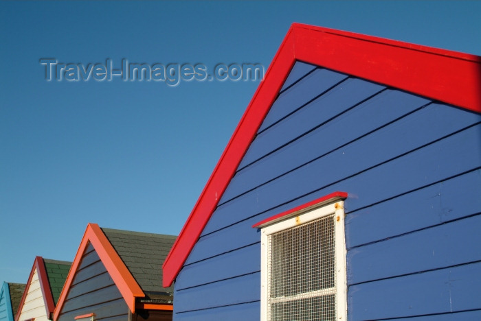 england206: Southwold, Waveney district, Suffolk, East Anglia, East England: beach huts - photo by K.White - (c) Travel-Images.com - Stock Photography agency - Image Bank
