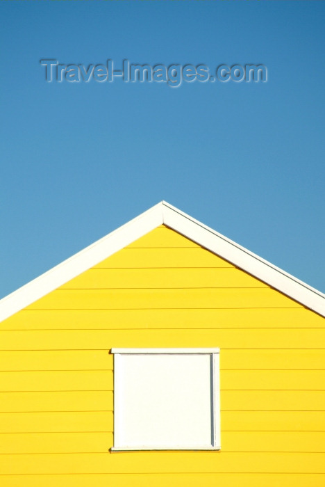 england209: Southwold, Waveney district, Suffolk, East Anglia, East England: yellow beach hut - Southwold Beach - photo by K.White - (c) Travel-Images.com - Stock Photography agency - Image Bank