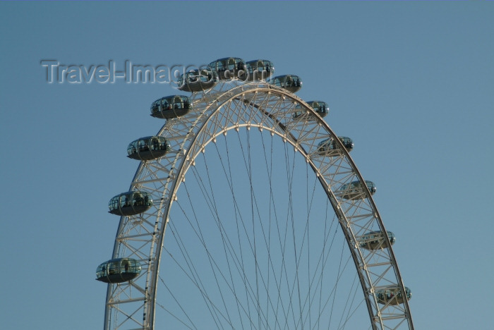 england218: London: British Airways London Eye - observation wheel - half - Designed by architects David Marks, Julia Barfield, Malcolm Cook, Mark Sparrowhawk, Steven Chilton and Nic Bailey - photo by K.White - (c) Travel-Images.com - Stock Photography agency - Image Bank