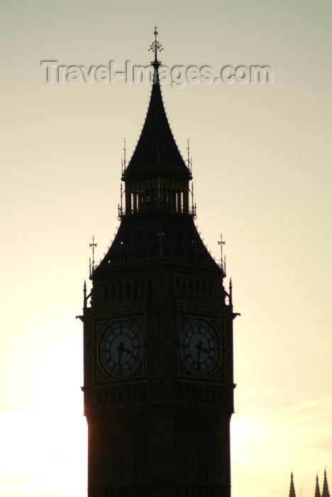 england219: London: Big Ben at sunset - Clock Tower, Palace of Westminster - photo by K.White - (c) Travel-Images.com - Stock Photography agency - Image Bank