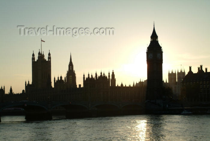 england220: London: Houses of Parliament at sunset - City of Westminster - photo by K.White - (c) Travel-Images.com - Stock Photography agency - Image Bank