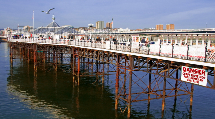 england228: Brighton, East Sussex, England, United Kingdom: the famous Brighton Pier / Palace Pier - designed by R. St George Moore - photo by B.Henry - (c) Travel-Images.com - Stock Photography agency - Image Bank