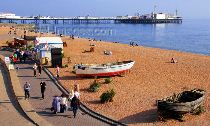 england229: Brighton, East Sussex, England, United Kingdom: Brighton beach and pier Palace Pier - photo by B.Henry - (c) Travel-Images.com - Stock Photography agency - Image Bank
