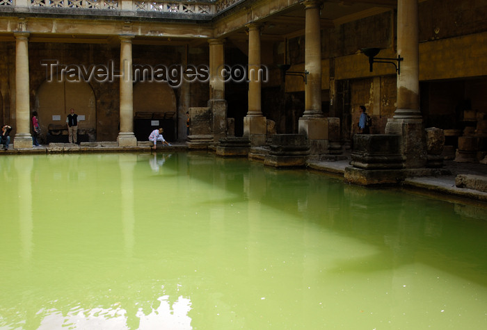 england231: England - Bath (Somerset county - Avon):the ancient Roman Baths - Unesco world heritage site - Roman spa - photo by C. McEachern - (c) Travel-Images.com - Stock Photography agency - Image Bank