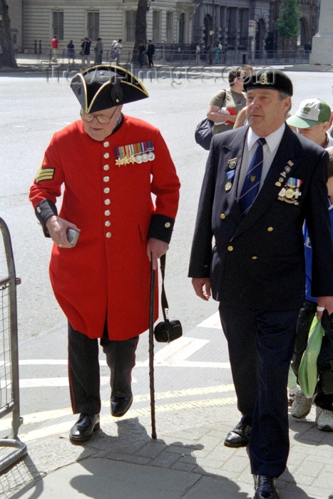 england244: London: British war veterans (photo by M.Bergsma) - (c) Travel-Images.com - Stock Photography agency - Image Bank