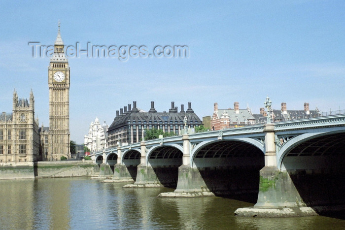 england247: London: Big Ben and Westminster Bridge - photo by M.Bergsma - (c) Travel-Images.com - Stock Photography agency - Image Bank