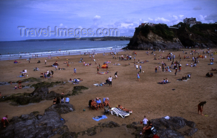 england292: England - Newquay - Cornwall: Great western beach (photo by T.Brown) - (c) Travel-Images.com - Stock Photography agency - Image Bank