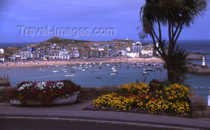 england298: England - St Ives - Cornwall: from the coastal road (photo by T.Brown) - (c) Travel-Images.com - Stock Photography agency - Image Bank