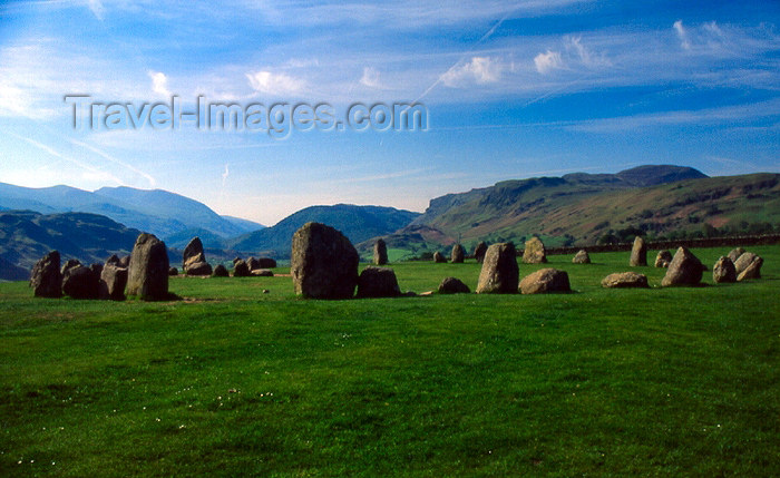 england314: England (UK) - Keswick - Lake District: Castlerigg stone circle - later Neolithic Period Megaliths - Cromlech (photo by T.Brown) - (c) Travel-Images.com - Stock Photography agency - Image Bank