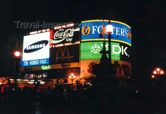 england32: London, England: neons of the new colonizers - Piccadilly  Circus at night - photo by M.Torres - (c) Travel-Images.com - Stock Photography agency - Image Bank