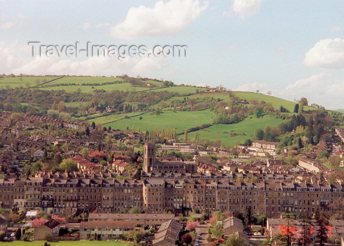 england33: England - Bath (Somerset county - Avon): from above - Georgian architecture - Unesco world heritage site  (photo by Miguel Torres) - (c) Travel-Images.com - Stock Photography agency - Image Bank
