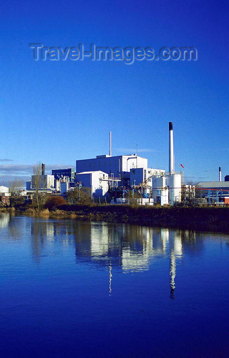 england349: Warrington, Cheshire, England, UK: Crosfield's Factory on the banks of the River Mersey - photo by D.Jackson - (c) Travel-Images.com - Stock Photography agency - Image Bank