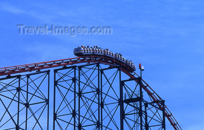 england362: Blackpool - Lancashire, England, UK: Roller coaster - Pepsimax ride - photo by T.Brown - (c) Travel-Images.com - Stock Photography agency - Image Bank