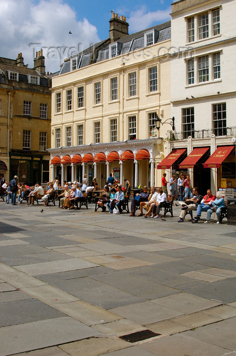 england374: England - Bath (Somerset county - Avon): Square at the Roman Baths - photo by C. McEachern - (c) Travel-Images.com - Stock Photography agency - Image Bank
