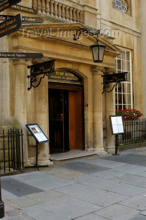england375: England - Bath (Somerset county - Avon): Entrance to the Pump Room at the Roman Baths - photo by C. McEachern - (c) Travel-Images.com - Stock Photography agency - Image Bank