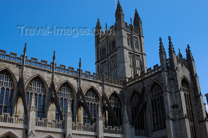 england378: England - Bath (Somerset county - Avon): Bath Abbey - photo by C. McEachern - (c) Travel-Images.com - Stock Photography agency - Image Bank