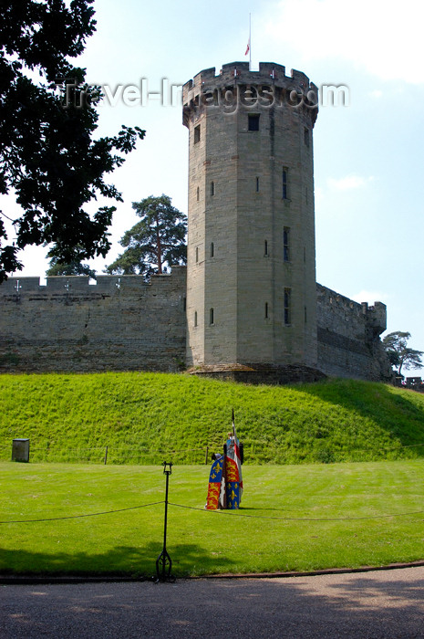 england382: Warwick, Warwickshire, West Midlands, England: castle - walls and Guy's Tower - photo by F.Hoskin - (c) Travel-Images.com - Stock Photography agency - Image Bank