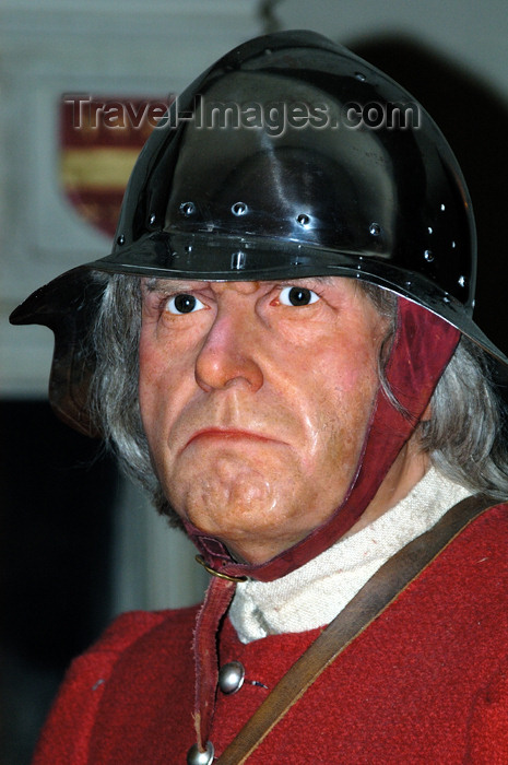 england383: Warwick, Warwickshire, West Midlands, England: medieval warrior - waxwork by Madame Tussaud at the castle- photo by F.Hoskin - (c) Travel-Images.com - Stock Photography agency - Image Bank