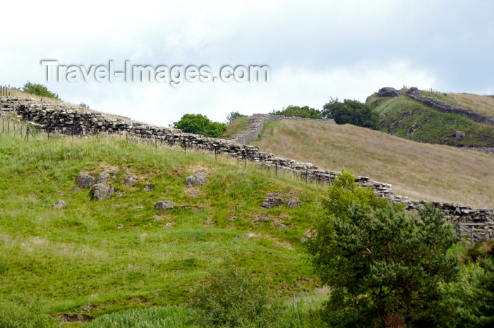 england394: England (UK) - Northumberland - Hadrian's Wall - Vallum Aelium - photo by C.McEachern - (c) Travel-Images.com - Stock Photography agency - Image Bank
