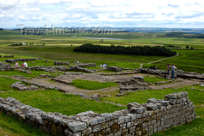 england397: England (UK) - Northumberland - ruins of a Roman site by Hadrian's Wall - the wall linked Segedunum at Wallsend on the River Tyne to the shore of the Solway Firth - photo by C.McEachern - (c) Travel-Images.com - Stock Photography agency - Image Bank