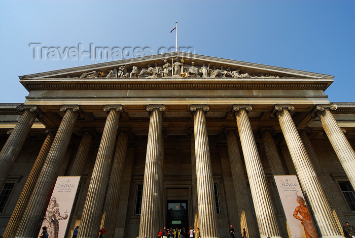england421: London: British museum - porch - Ionic order columns - main entrance - Bloomsbury, Camden - photo by M.Torres - (c) Travel-Images.com - Stock Photography agency - Image Bank