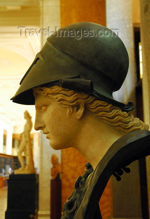 england426: London: British museum - goddess Athena - classical bust - Age of Enlightenment exhibition - photo by M.Torres - (c) Travel-Images.com - Stock Photography agency - Image Bank