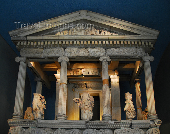 england435: London: British museum - Nereid Monument, from Xanthos, in ancient Lycia - photo by M.Torres - (c) Travel-Images.com - Stock Photography agency - Image Bank