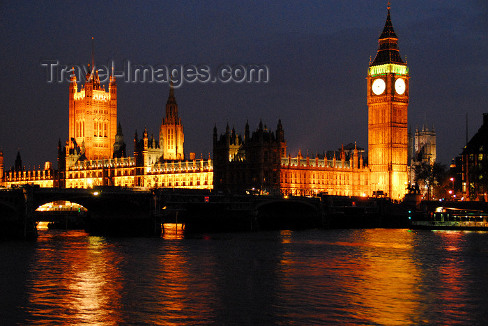 england436: London: Houses of Parliament / Westminster Palace at night - seen from Lambeth - photo by  M.Torres / Travel-Images.com - (c) Travel-Images.com - Stock Photography agency - Image Bank