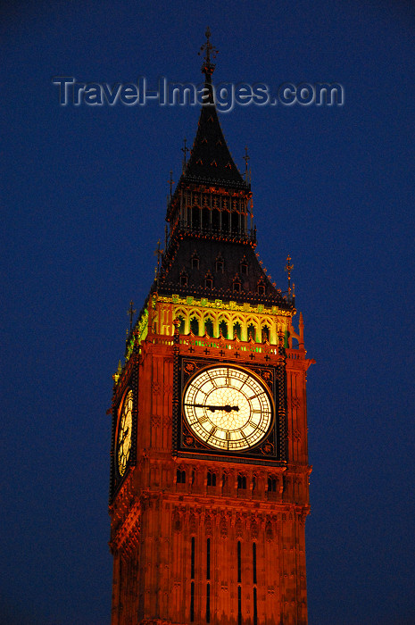 england439: London: Big Ben at night - Victorian Gothic style, architect Charles Barry - photo by  M.Torres / Travel-Images.com - (c) Travel-Images.com - Stock Photography agency - Image Bank