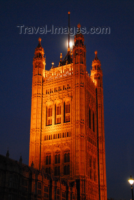england441: London: Westminster Palace - Victoria Tower at the House of Lords end of the palace - photo by  M.Torres - (c) Travel-Images.com - Stock Photography agency - Image Bank