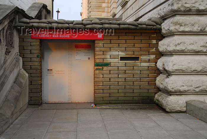 england449: London: entrance to the Cabinet war rooms and Churchill museum - Horse Guards Road - City of Westminster - photo by M.Torres - (c) Travel-Images.com - Stock Photography agency - Image Bank
