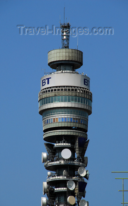 england452: England - London: BT Tower - architect Eric Bedford - Cleveland Street, Camden - TV Tower - photo by M.Torres - (c) Travel-Images.com - Stock Photography agency - Image Bank
