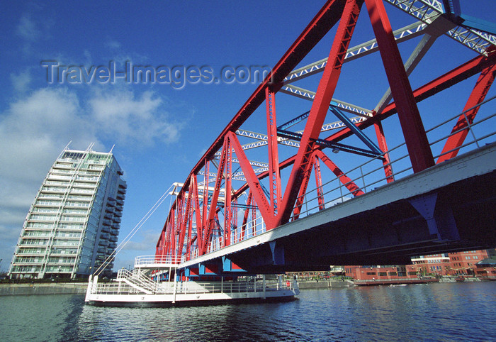 england505: Salford Quays, Salford, England: Detroit Bridge - photo by D.Jackson - (c) Travel-Images.com - Stock Photography agency - Image Bank