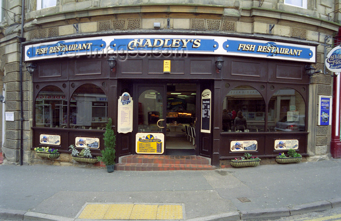 england508: Whitby, North Yorkshire,England: Hadley's Fish Restaurant, Church Street - photo by D.Jackson - (c) Travel-Images.com - Stock Photography agency - Image Bank