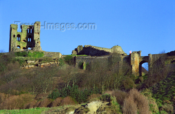 england513: Scarborough, North Yorkshire, England: Scarborough Castle - photo by D.Jackson - (c) Travel-Images.com - Stock Photography agency - Image Bank
