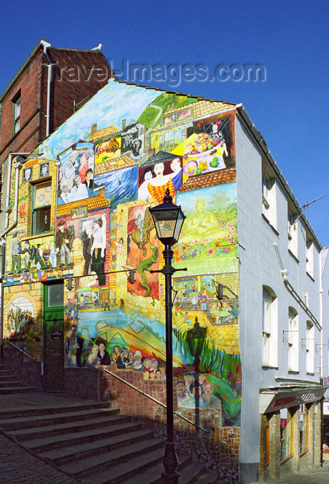 england514: Scarborough, North Yorkshire, England: Street Art, Bland's Cliff - photo by D.Jackson - (c) Travel-Images.com - Stock Photography agency - Image Bank